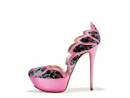 Jade leopard print pony and fuchsia snake shoe
